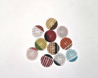 Set of 12 cabochon 12 mm lace 01