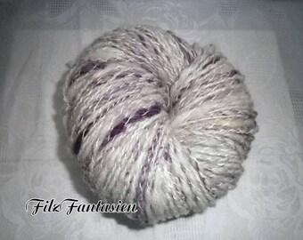 Artyarn hand spun, effect yarn 122g, spiral yarn, wool, handmade wool, knitted yarn, woven yarn