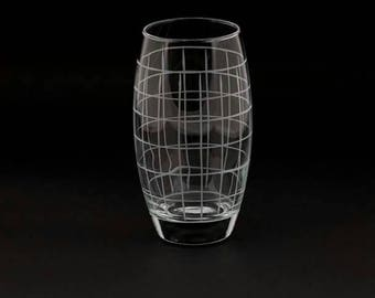 Water glass / traditional and modern style hand cut glass #handmade