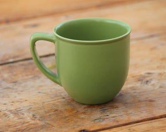 Vintage Scandinavian Höganäs Keramik of Sweden / Stoneware Moss Green Coffee or Tea Mug / Cup / Swedish Pottery / Ceramic Design