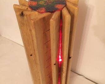 Hand made wooden desk lamp