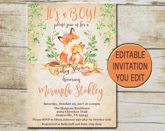 baby shower flyers template