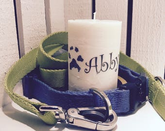Pet Paw Print Candle