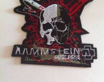 skull patch applique pattern skull large embroidery sewing fusible
