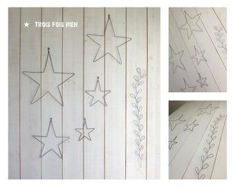 Décoration murale Nuée d'étoile en fil de fer