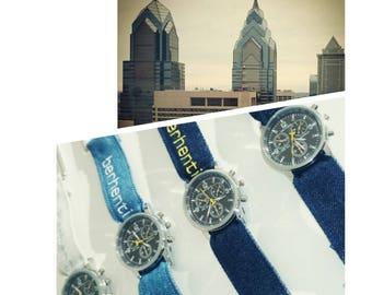 Watch men - 4 designs in denim