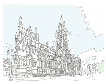 Manchester Town Hall Print