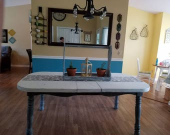 Distressed Dinning Table sits 6