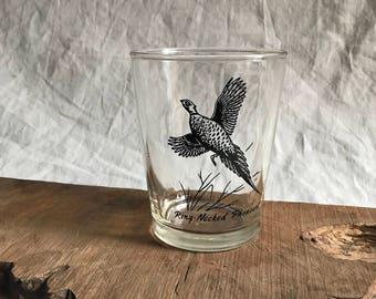 Vintage Ring Necked Pheasant Glass
