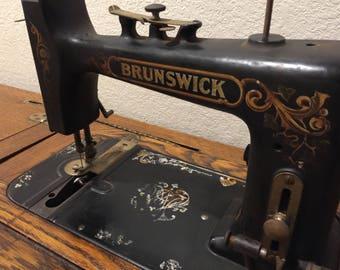 Brunswick Antique Sewing Machine