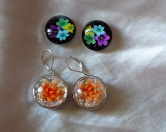 BUTTONS EARRINGS HAVE CLIP ON