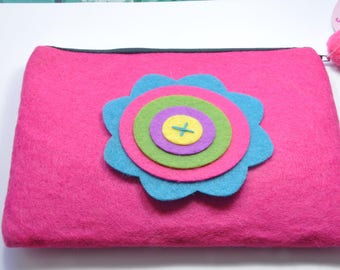T6 - Felt Kit pink with a flower