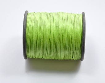 CO61 - Set of 5 meters of green waxed cord