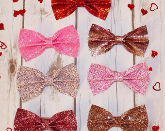 Valentine's Day Glitter Bows