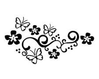 Floral Butterfly Decal