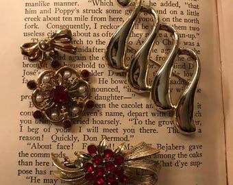Vintage Christmas Brooches Set of 3
