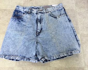 Vintage Street Wise Acid Wash Denim Shorts