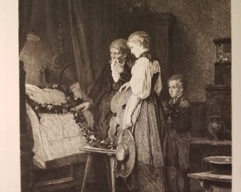 The Stillness of Death, Genuine print by Carl Hoff