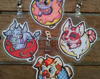 Donut Adoptable : Fursona art and badge