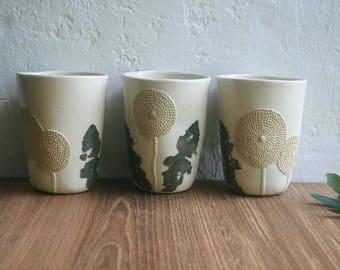 Ceramic tumbler, pottery tumbler, ceramic cup, juice, iced coffee, beer