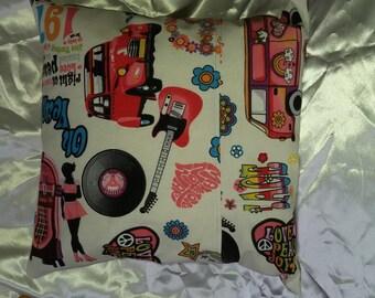 hippie pillow cover