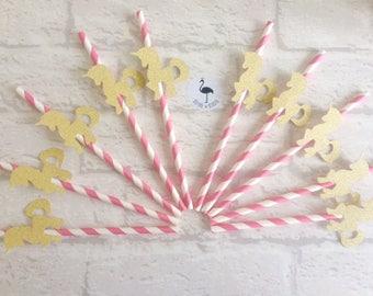 10 x Unicorn party straws, unicorn drink, unicorn decor, unicorn party, unicorn party supplies