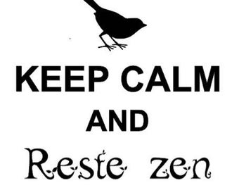 "Applique ""Keep calm and stay"" zen flex or flock Thermo - color choice"