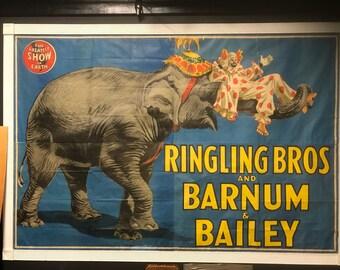 1945 Original Barnum and Bailey 9 Piece Poster