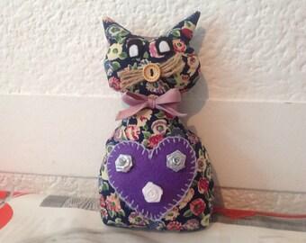 Cute Kitten in fabric