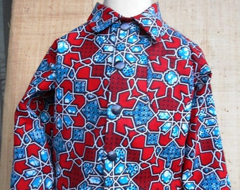Shirt baby in African fabric, wax, unisex baby 3 to 18 months