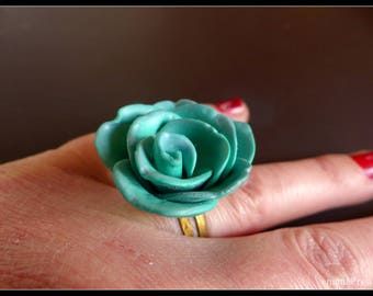 Flower Turquoise ring