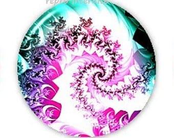 20mm, green and Purple Swirl