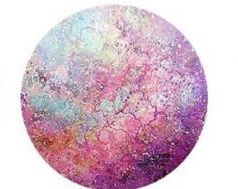 20mm, nice cabochonabstrait pink/blue