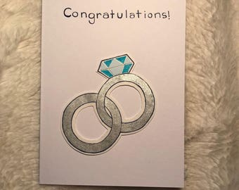 Wedding Ring Engagement Homemade Card
