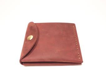 "Leather slim wallet ""Office"""