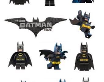 Lego Batman Superhero Temporary Tattoo Sticker. Party Supplies Bunting Lolly Loot Bags