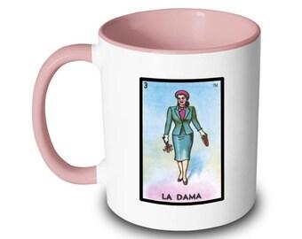 La Dama Mug Lady - Woman Loteria Card Mexican Bingo
