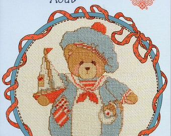 Cherished Teddies Roly Poly August Counted Cross Stitch Kit