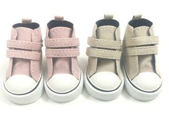 6CM Canvas Shoes For Paola Reina Doll,Fashion Mini Toy Gym Shoes for Corolle Les Cheries,1/4 Bjd Doll Footwear Sports Shoes for Dolls