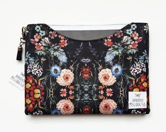 Custom Tablet,iPad pro 10.5 dust sleeve,9.7 inch botanical sleeve,Dark Botanical dust sleeve,Dark florals phone and tablet covers,all sizes