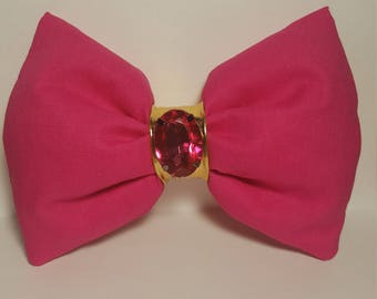 Hot pink fluffy bow