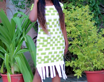Hand made basket weave inspired dress