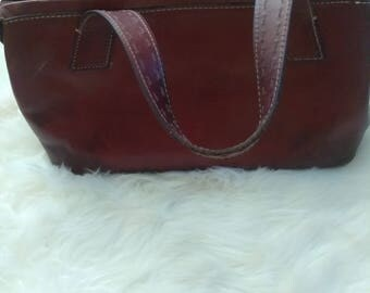 Fossil Brown Leather Tote