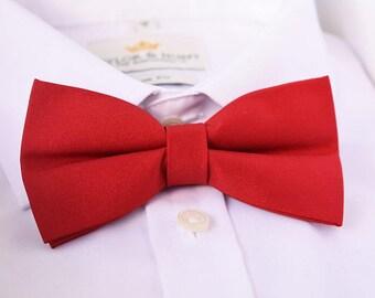 Dark Red Matte Bow Tie