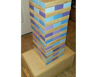 Jen-Glow Giant Tumbling Towers - Purple/Blue Edition - Blocks ONLY