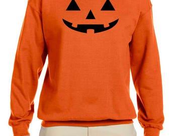 Halloween Pumpkin Men's Crew Neck Sweatshirt