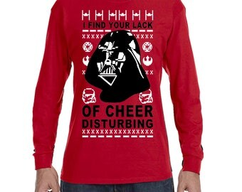 I Find your Lack of Cheer Disturbing Christmas Men's Long Sleeve T-shirt