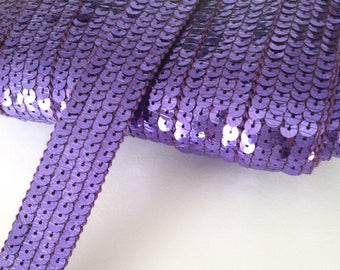 Stripe glitter round sequins PARMA VIOLET 4 strands sold was cut from 20 cm