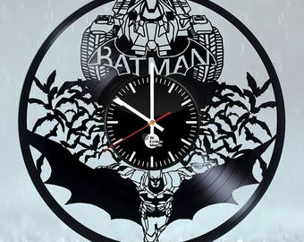 Batman Batmobile Vinyl Record Wall Clock