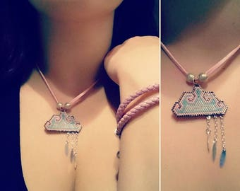 Sweet girly cloud necklace